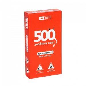 Дополнение красное. Настольная игра 500 злобных карт