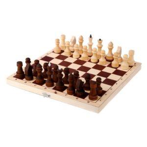 Шахматы обиходные парафинированные с доской (без подклейки)