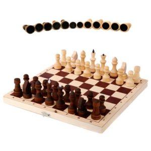 Шахматы обиходные парафинированные с доской (с подклейкой)