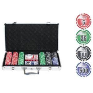 Набор для покера на 300 фишек NUTS