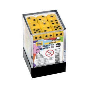 Набор из 36 желтых кубиков D6