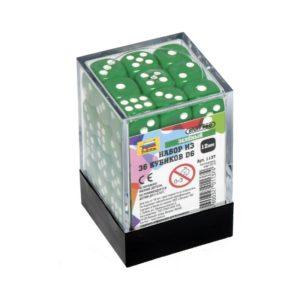 Набор из 36 зеленых кубиков D6