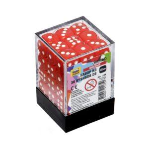 Набор из 36 красных кубиков D6