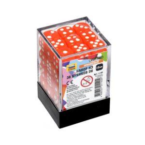 Набор из 36 оранжевых кубиков D6