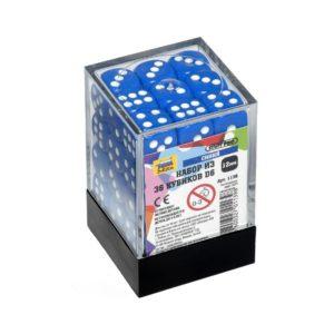 Набор из 36 синих кубиков D6