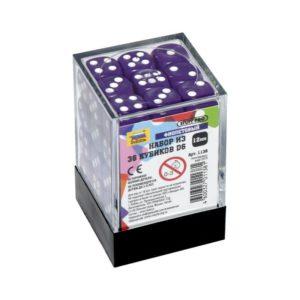 Набор из 36 фиолетовых кубиков D6