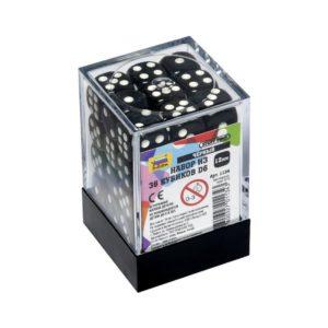 Набор из 36 черных кубиков D6