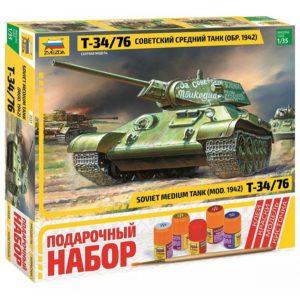 Подарочный набор Танк Т 34 76 1942