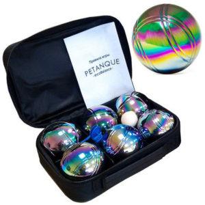 Петанк 6 радужных шаров