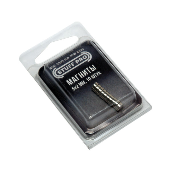STUFF PRO Магниты для миниатюр 10 штук 5х2 мм