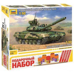 Модель танка Т-90 1:72 Подарочный набор